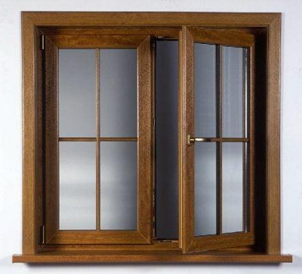 پنجره لولایی تک حالته