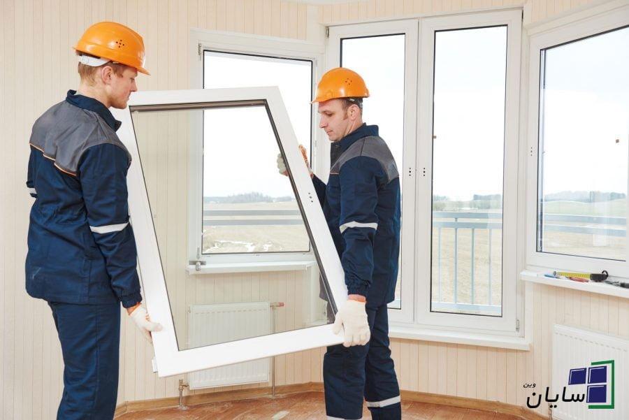 اندازه گیری و نصب پنجره دوجداره upvc