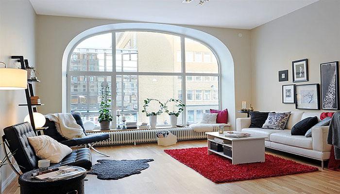 دکوراسیون خانه با پنجره های بزرگ